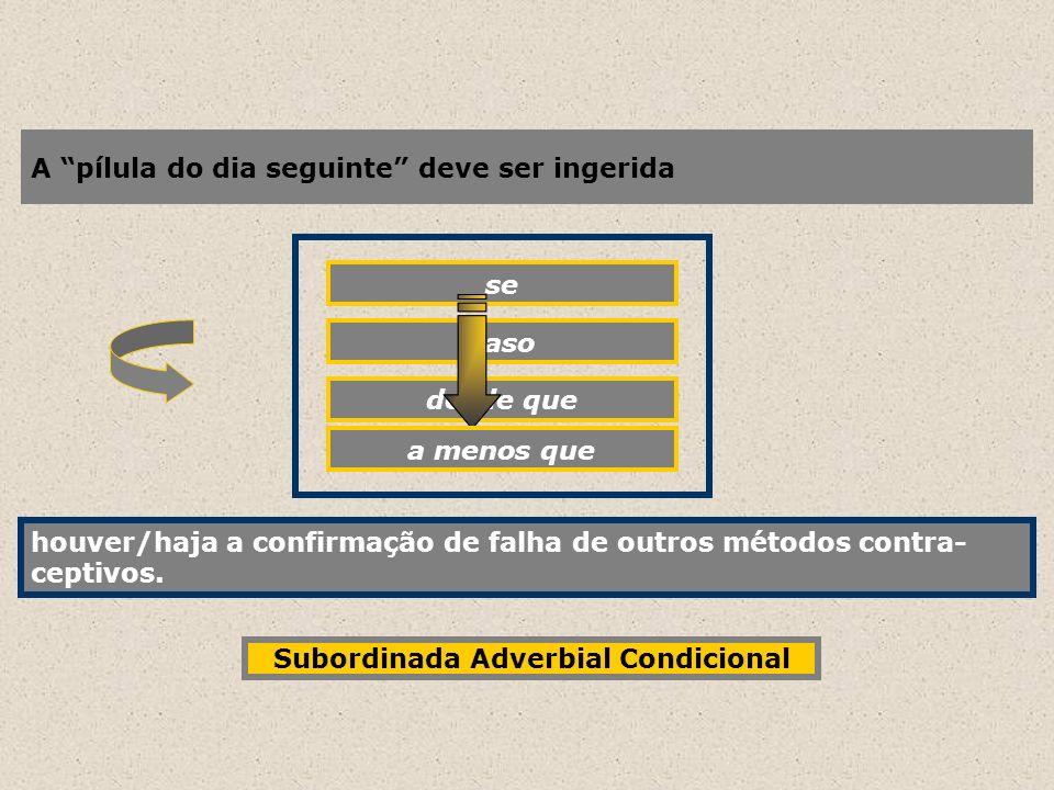 Subordinada Adverbial Condicional