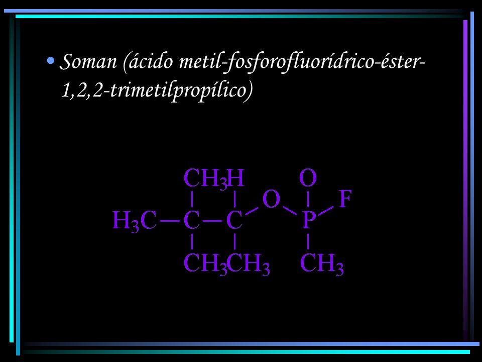 Soman (ácido metil-fosforofluorídrico-éster-1,2,2-trimetilpropílico)