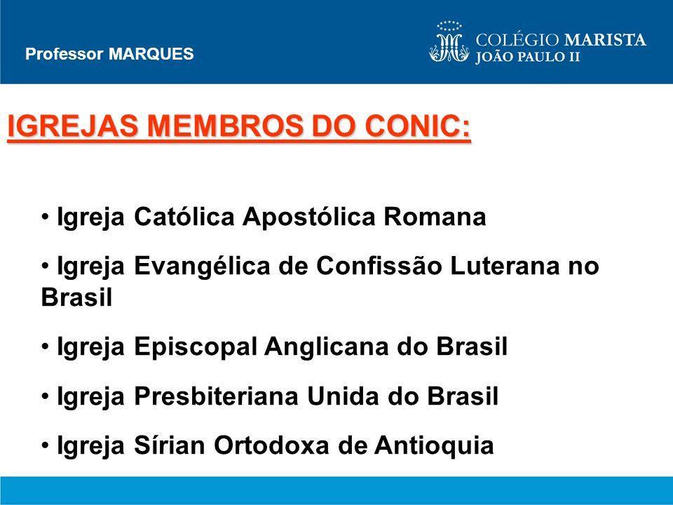 IGREJAS MEMBROS DO CONIC:
