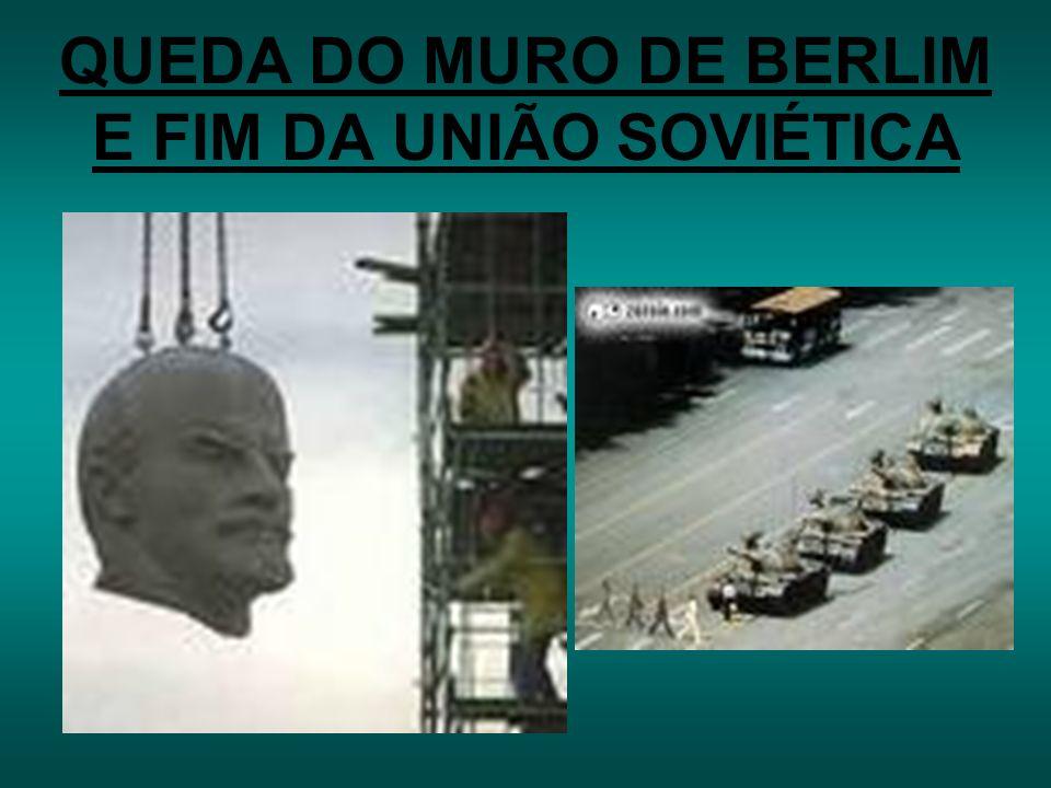 QUEDA DO MURO DE BERLIM E FIM DA UNIÃO SOVIÉTICA