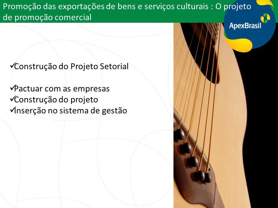 Promoção das exportações de bens e serviços culturais : O projeto de promoção comercial