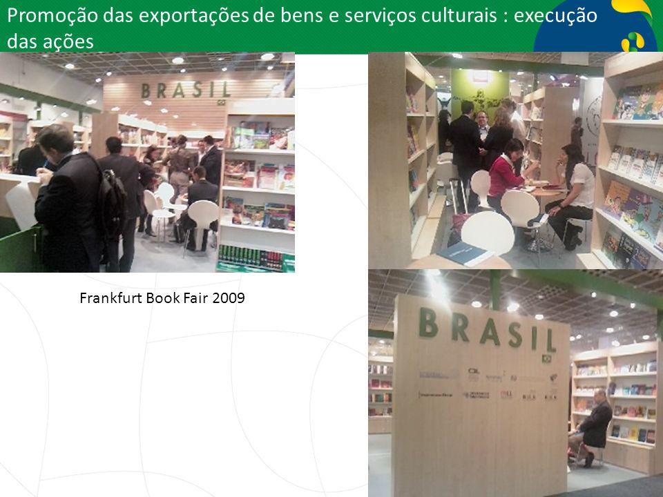 Promoção das exportações de bens e serviços culturais : execução das ações