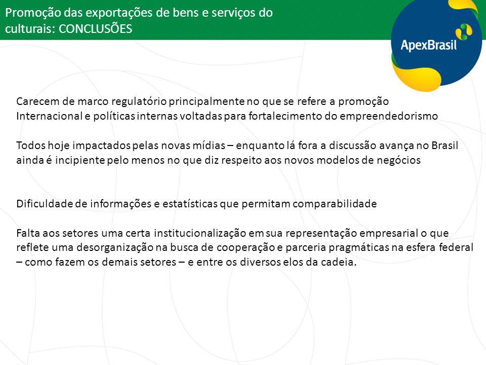 Promoção das exportações de bens e serviços do culturais: CONCLUSÕES