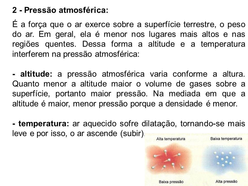 2 - Pressão atmosférica:
