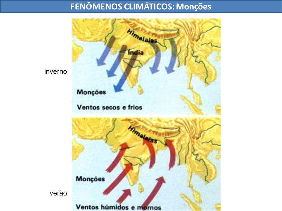 FENÔMENOS CLIMÁTICOS: Monções