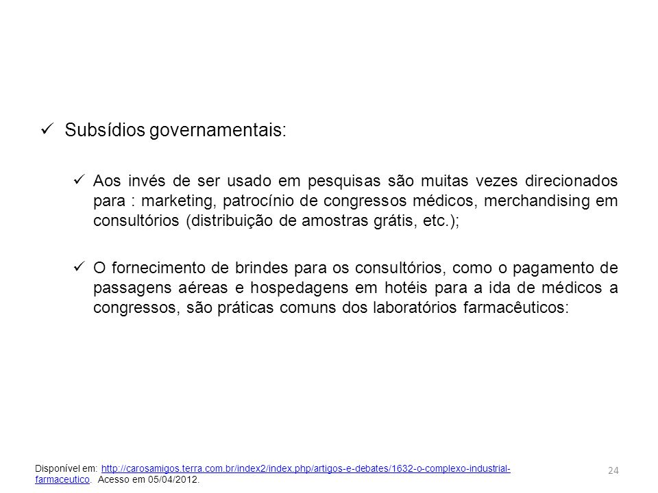 Subsídios governamentais: