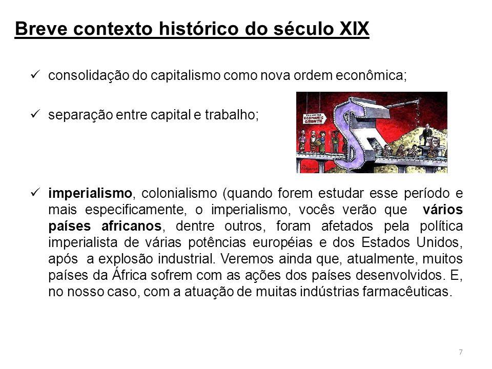 Breve contexto histórico do século XIX