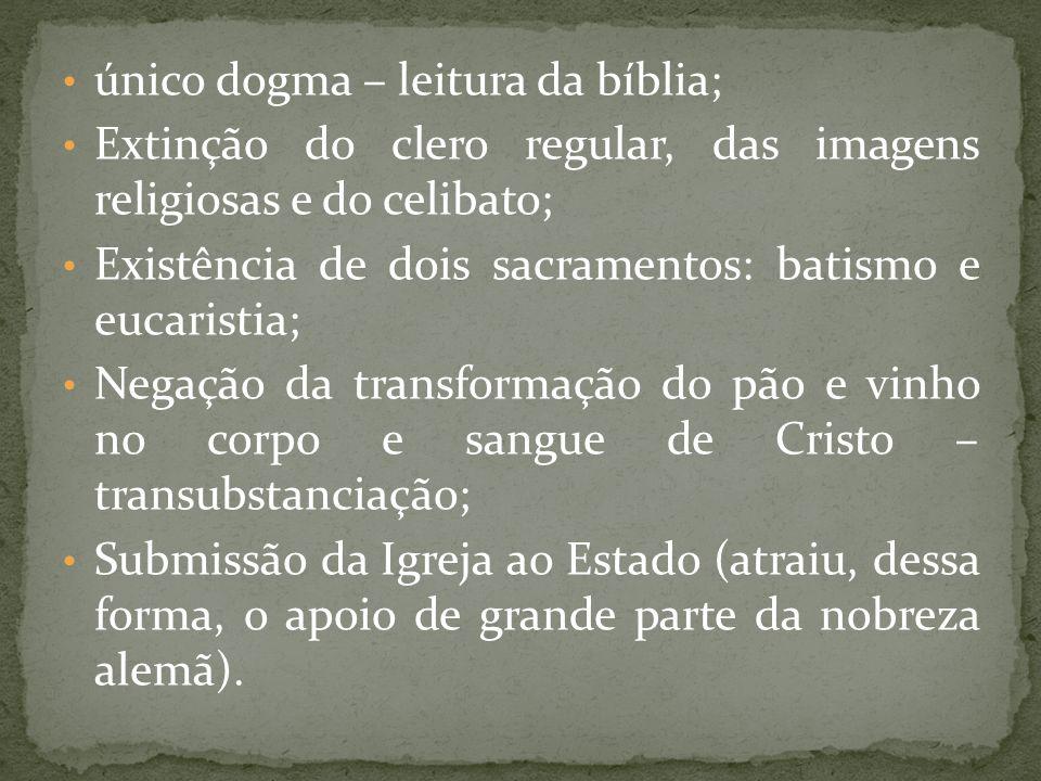único dogma – leitura da bíblia;