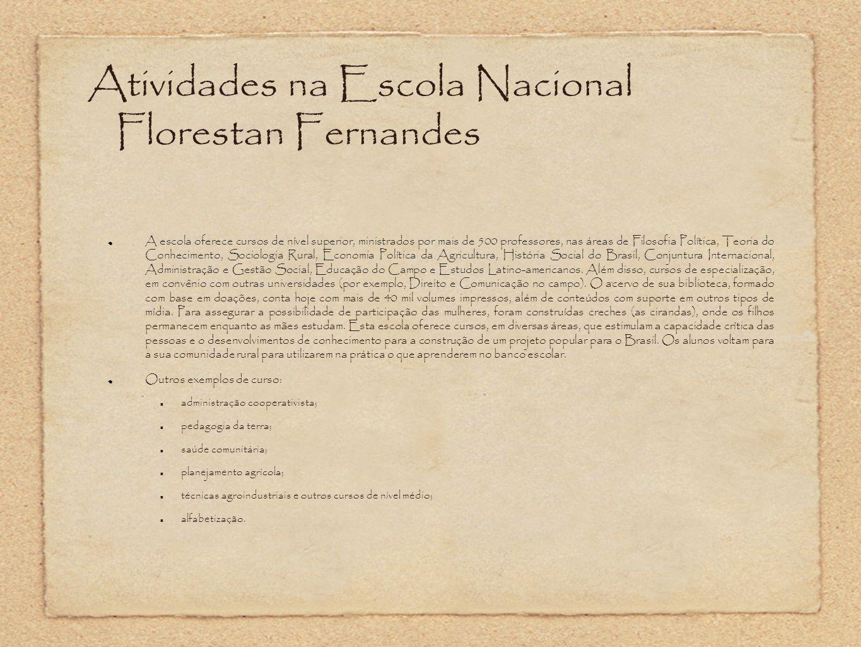 Atividades na Escola Nacional Florestan Fernandes