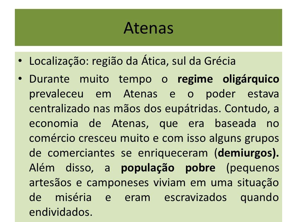 Atenas Localização: região da Ática, sul da Grécia