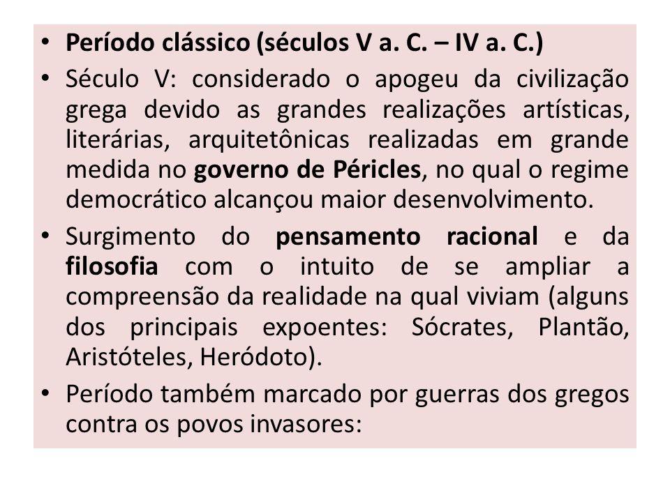 Período clássico (séculos V a. C. – IV a. C.)