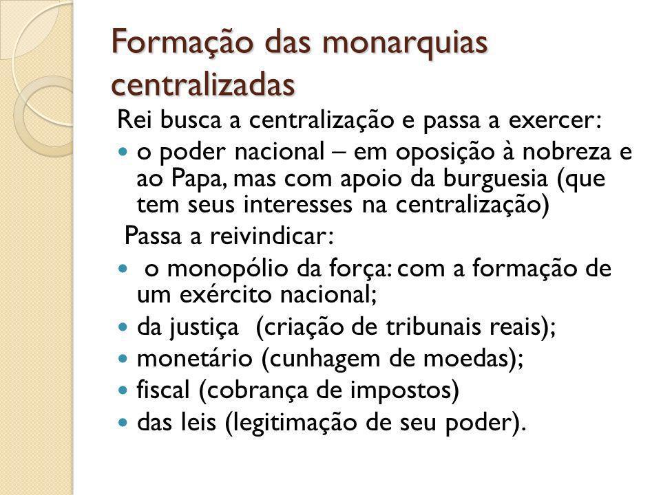 Formação das monarquias centralizadas