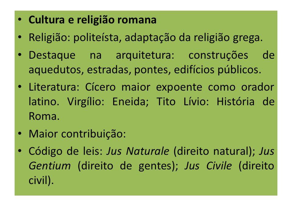 Cultura e religião romana