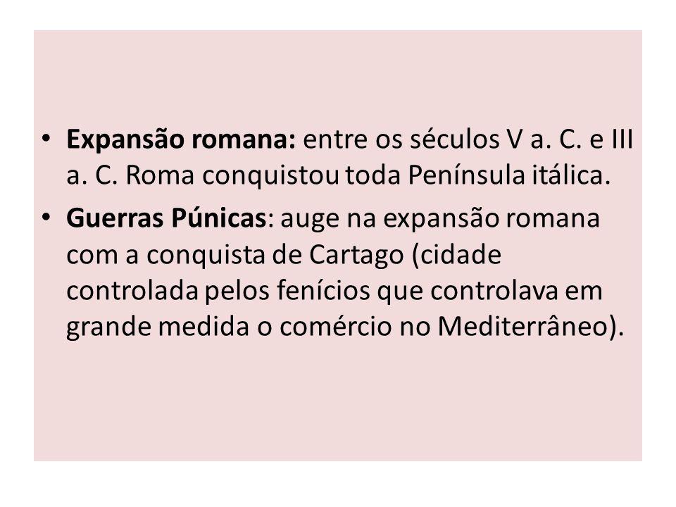 Expansão romana: entre os séculos V a. C. e III a. C