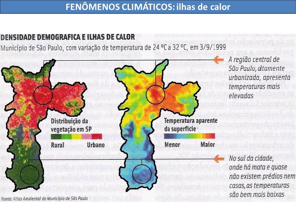 FENÔMENOS CLIMÁTICOS: ilhas de calor