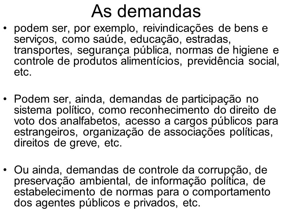 As demandas