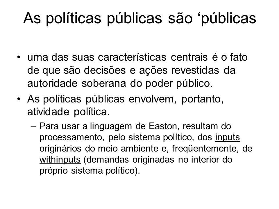 As políticas públicas são 'públicas