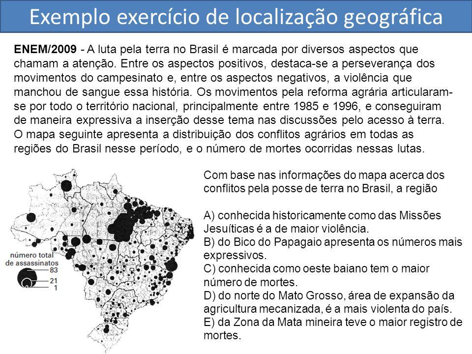Exemplo exercício de localização geográfica