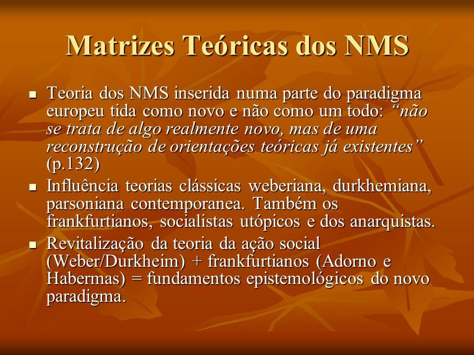 Matrizes Teóricas dos NMS