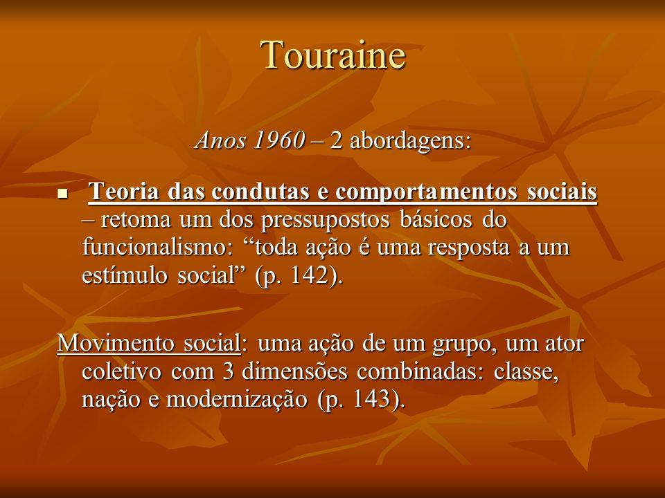 Touraine Anos 1960 – 2 abordagens:
