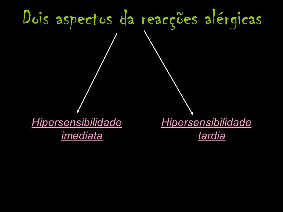 Dois aspectos da reacções alérgicas