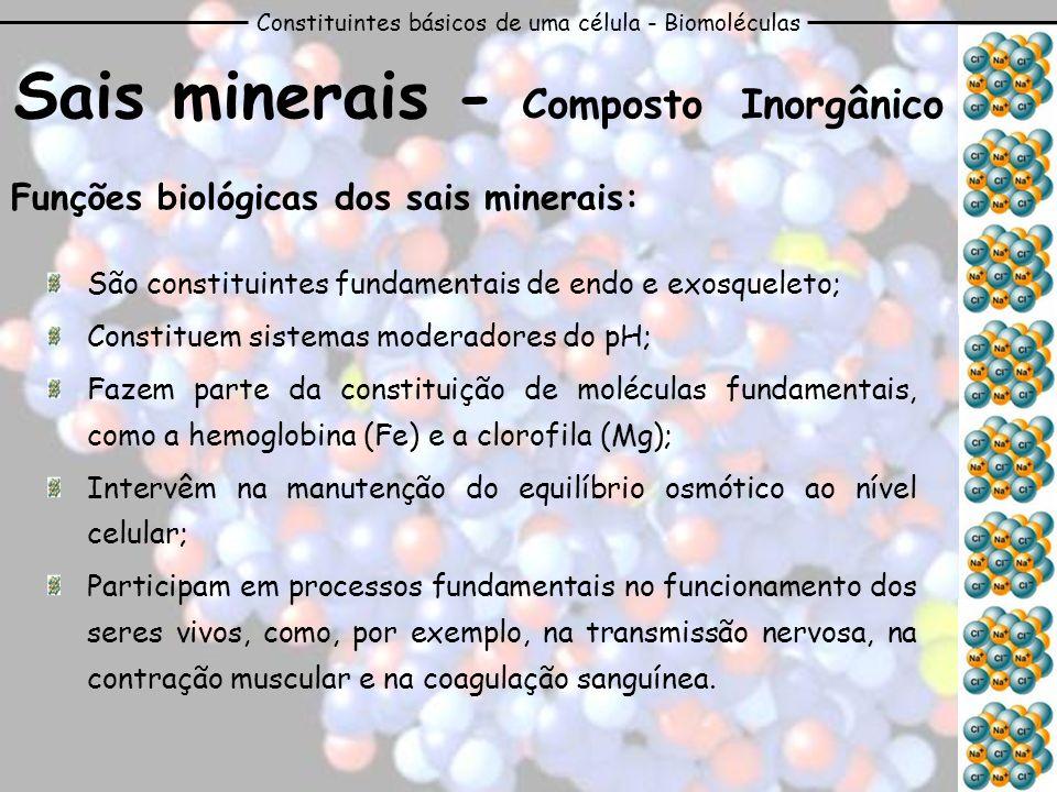 Sais minerais - Composto Inorgânico