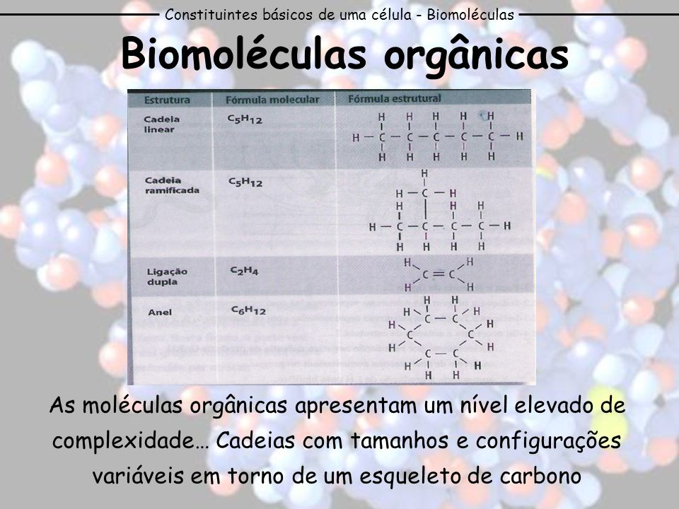 Biomoléculas orgânicas