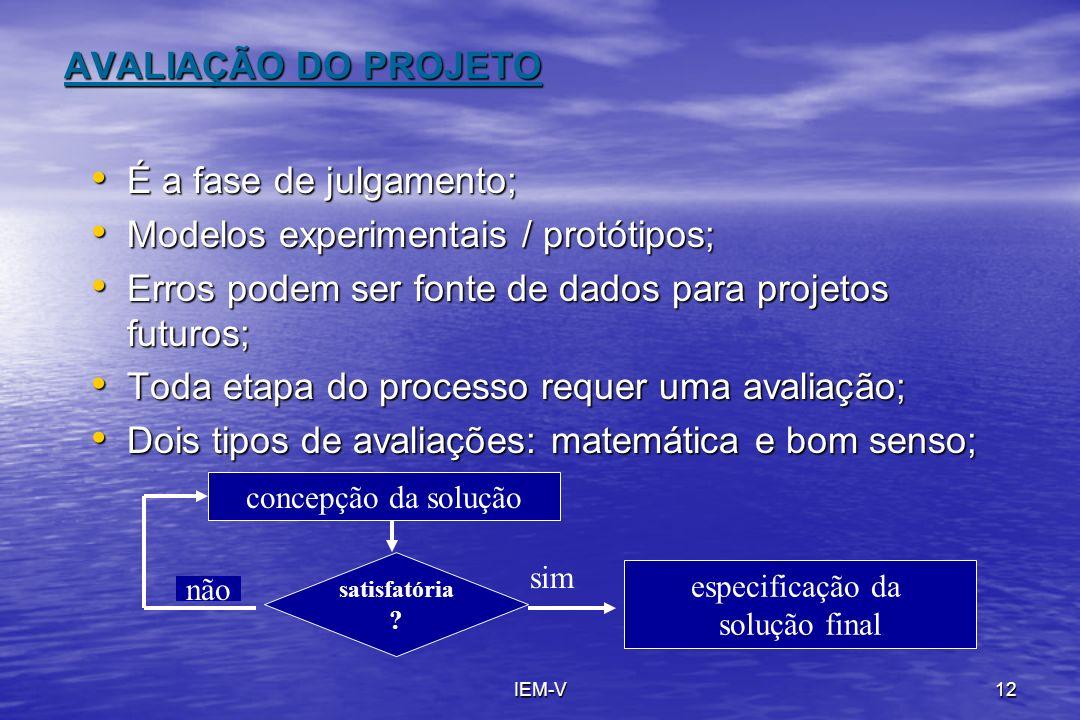 Modelos experimentais / protótipos;