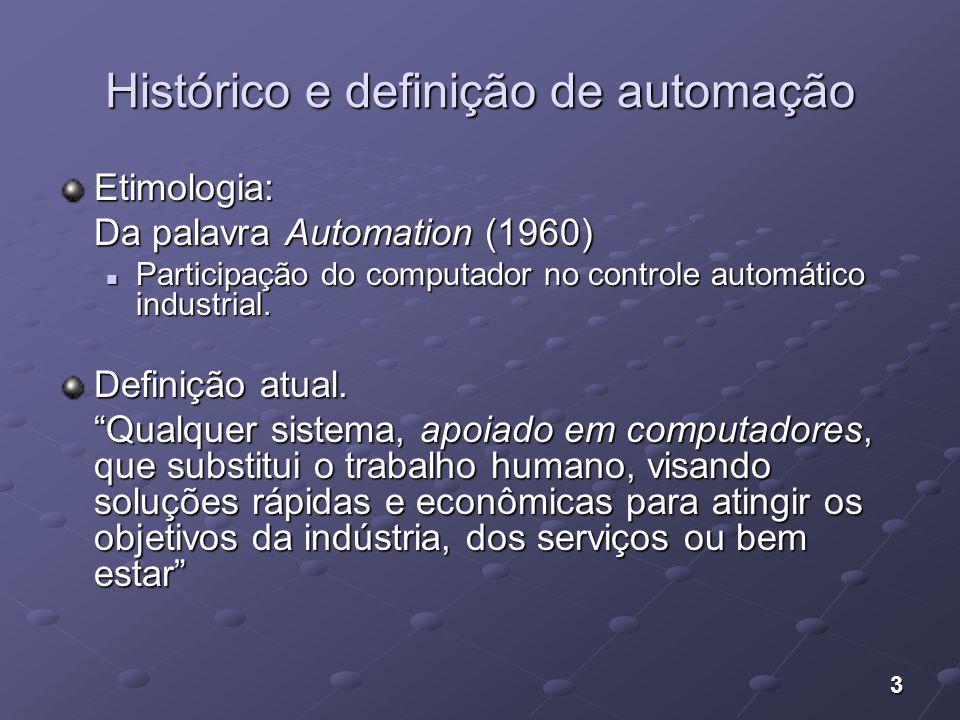 Histórico e definição de automação