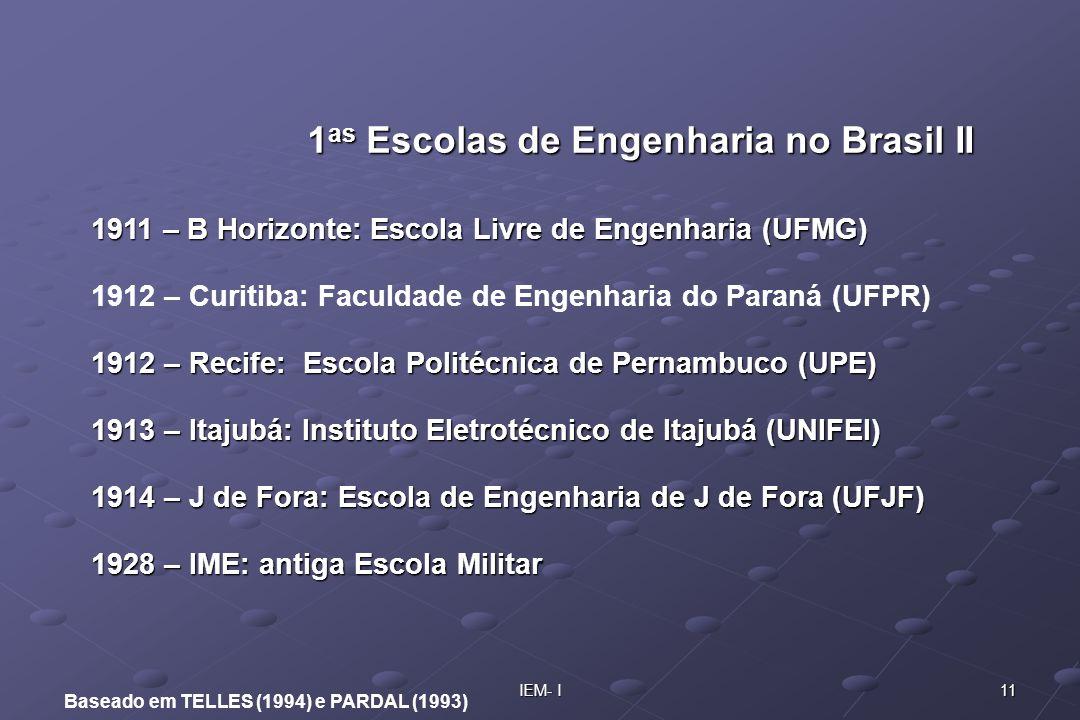 1as Escolas de Engenharia no Brasil II