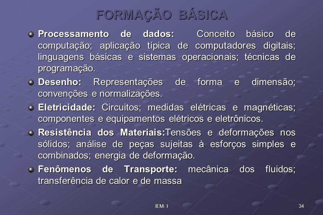 FORMAÇÃO BÁSICA