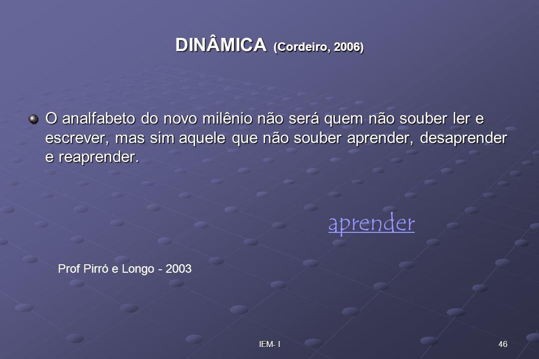 aprender DINÂMICA (Cordeiro, 2006)