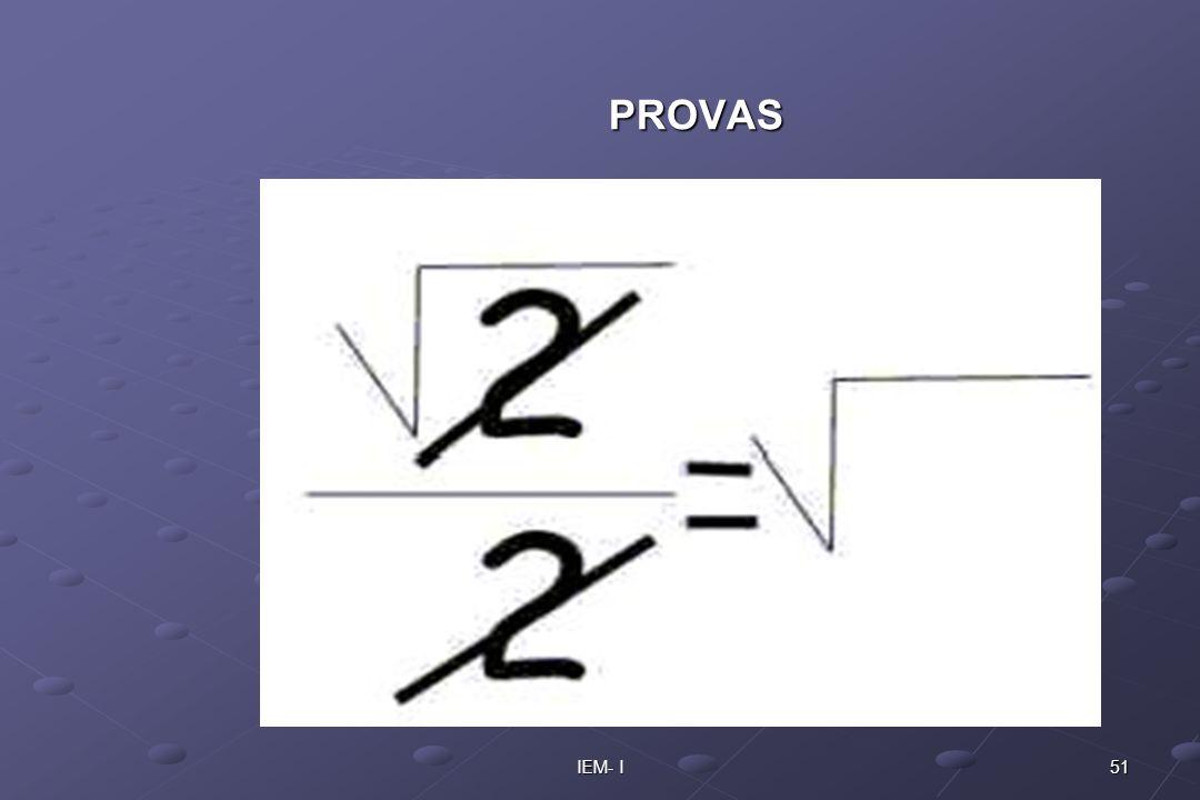 PROVAS IEM- I