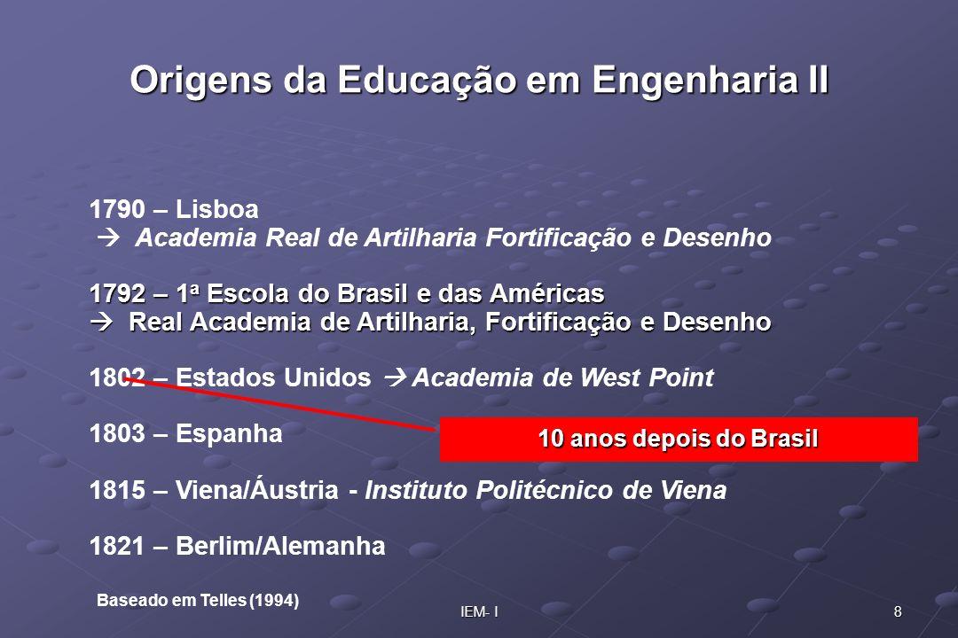 Origens da Educação em Engenharia II