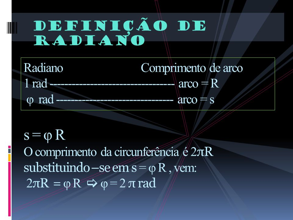 Definição de radiano