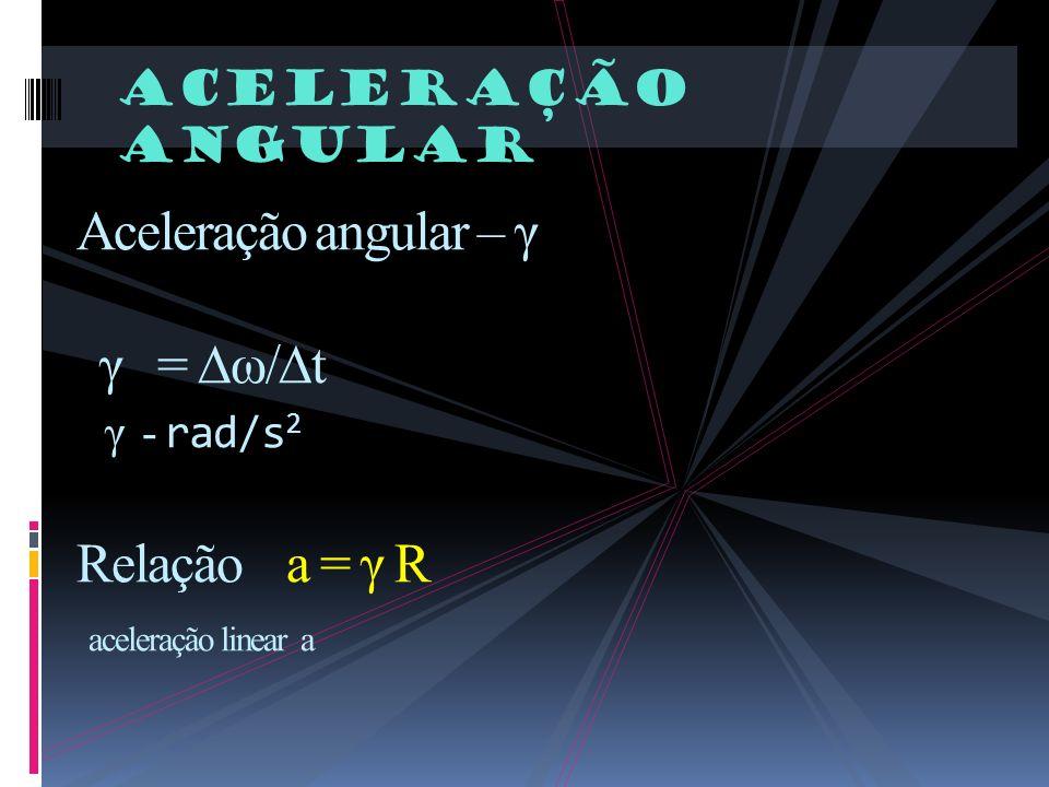 Aceleração angular.