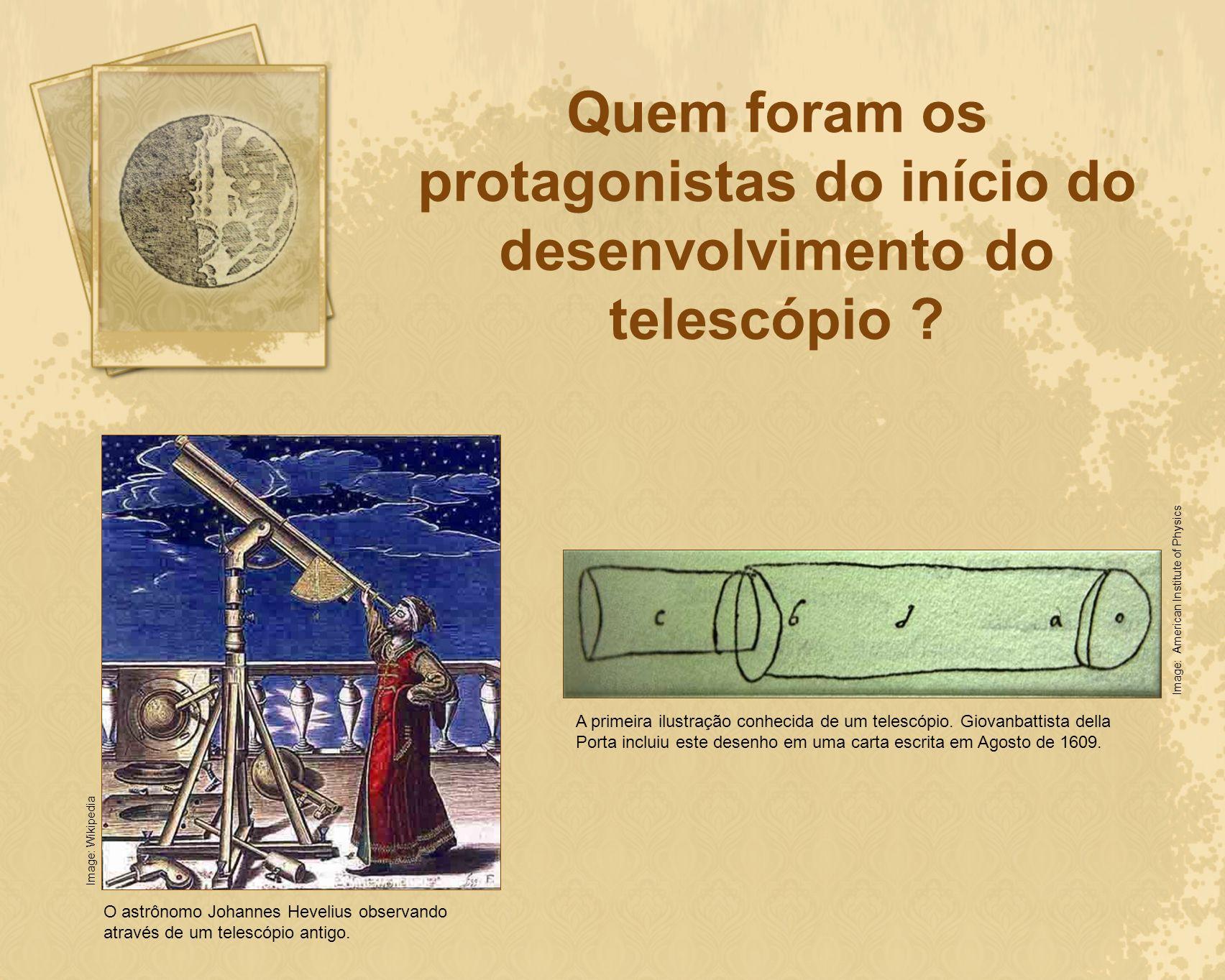 Quem foram os protagonistas do início do desenvolvimento do telescópio