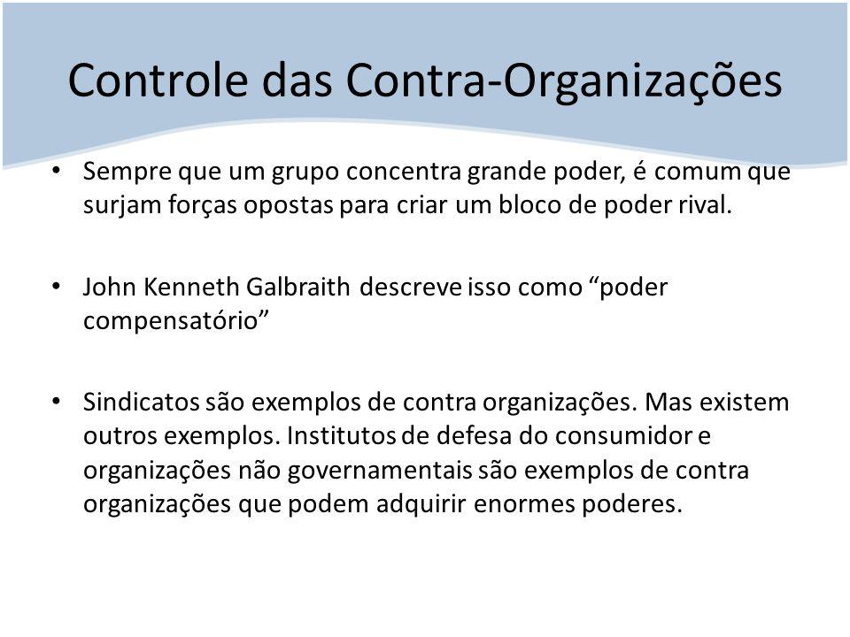 Controle das Contra-Organizações