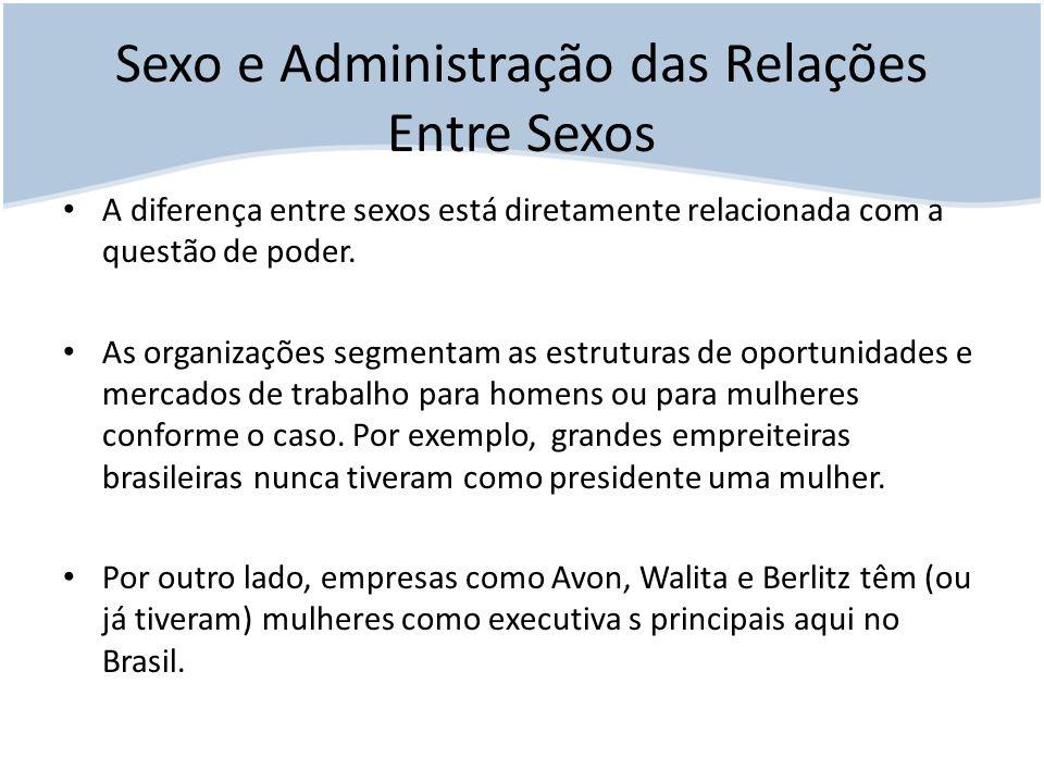 Sexo e Administração das Relações Entre Sexos