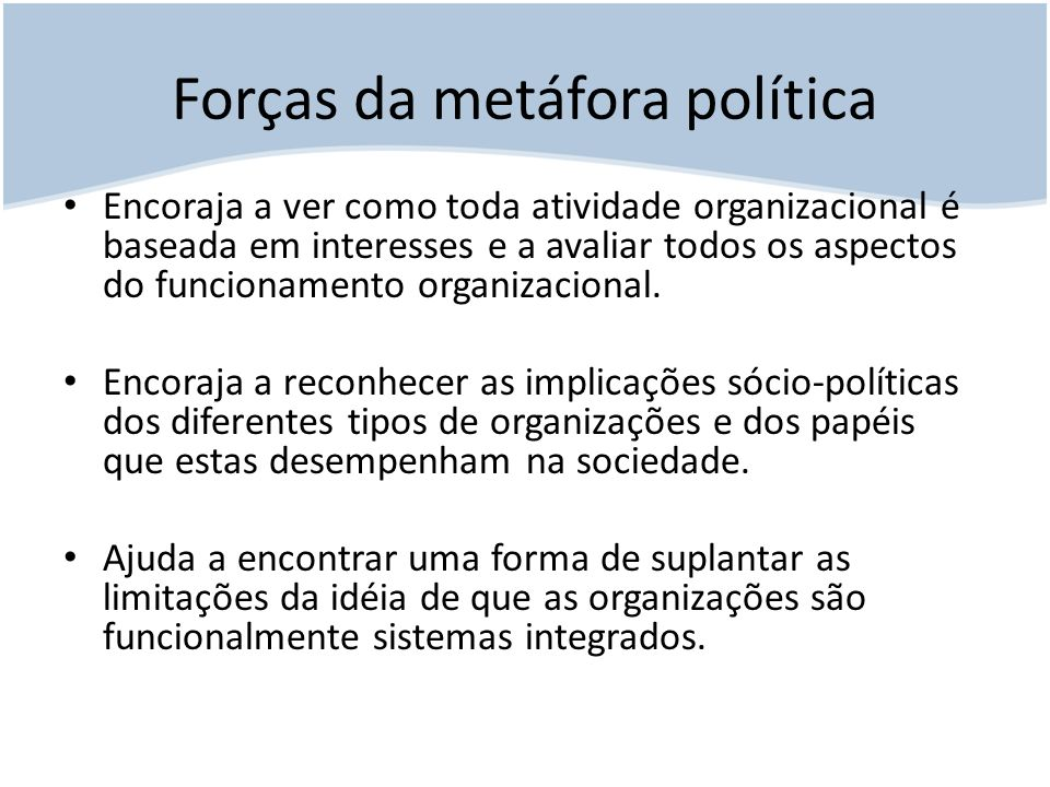 Forças da metáfora política