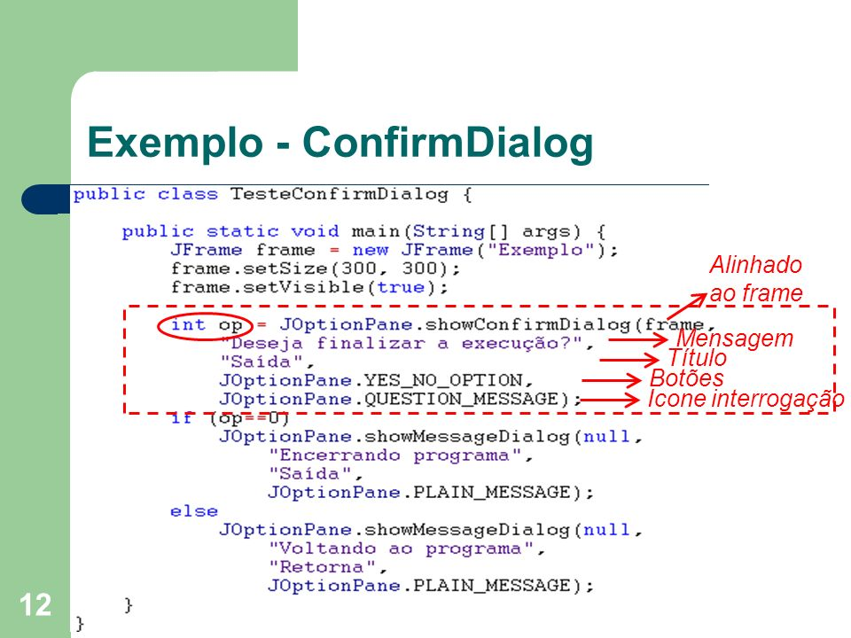 Exemplo - ConfirmDialog