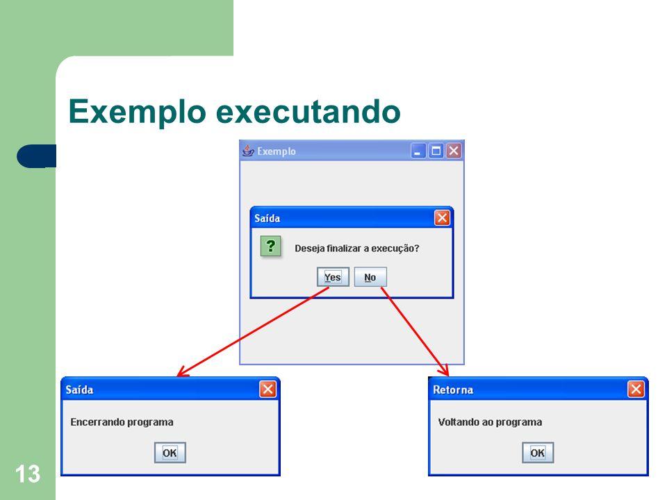 Exemplo executando