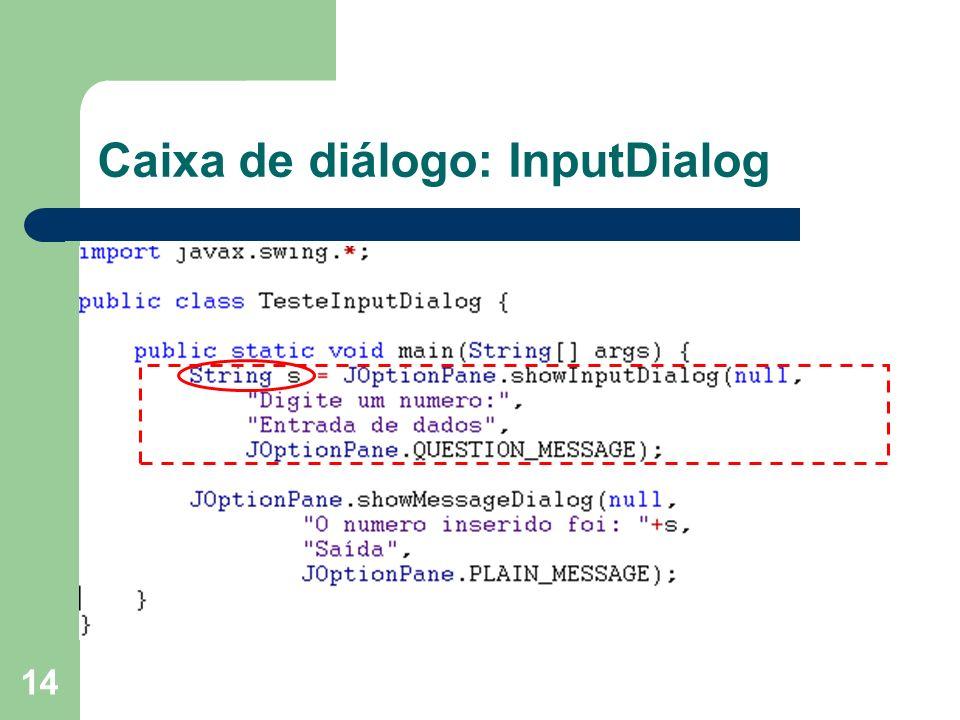 Caixa de diálogo: InputDialog