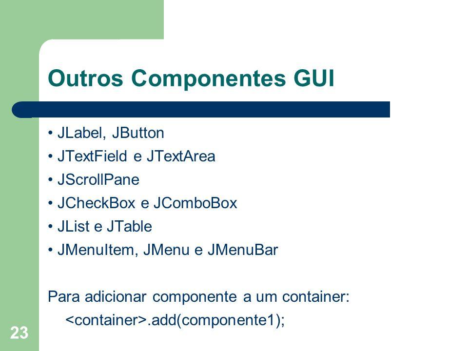 Outros Componentes GUI