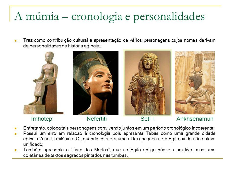 A múmia – cronologia e personalidades