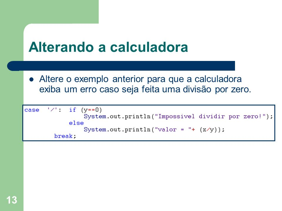 Alterando a calculadora