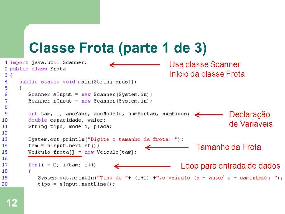 Classe Frota (parte 1 de 3)