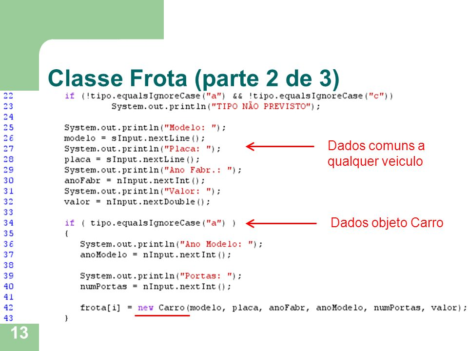 Classe Frota (parte 2 de 3)