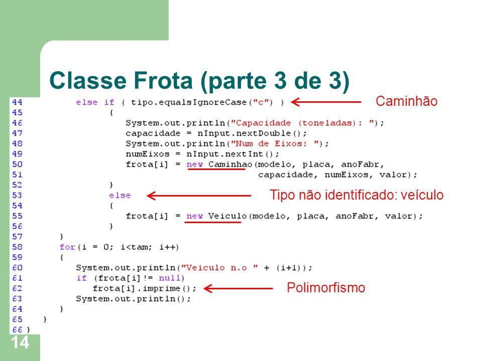 Classe Frota (parte 3 de 3)