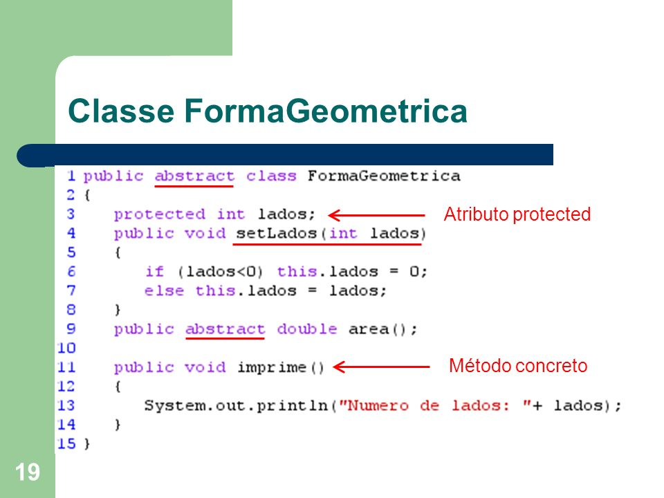 Classe FormaGeometrica